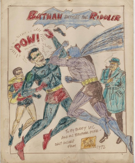 Bob Kane Batman commission (1972)
