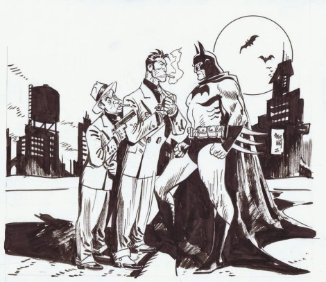 Jordi Bernet Batman vs_ Torpedo commission (2013)