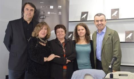 Lourdes Ortiz, Teresa Galeote, Marta Gómez Garrido, Lorenzo Silva y Miguel Ángel de Rus en el pasado Getafe Negro