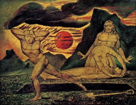 Cain Fleeing AbelWilliam Blake, 1826